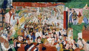 Entrada triunfal de Cristo en Bruselas en 1889 - James Ensor - 1888