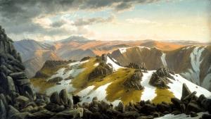Vista noreste desde la cima del monte Kosciusko | Eugene von Guérard | 1863