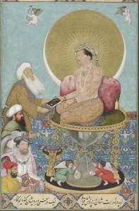 Jahangir prefiere a un jeque Sufi antes que a los reyes | Bichitr | 1618