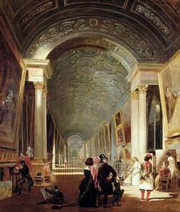 Vista de la galería grande del Louvre | Patrick Allan-Fraser | 1841