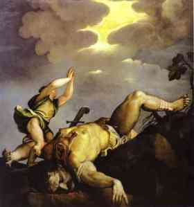 David y Goliat | Tiziano | 1542