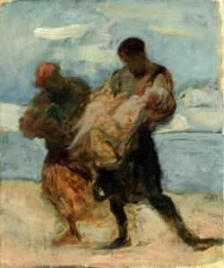 El rescate | Honoré Daumier | 1870