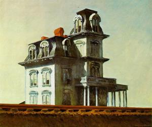 Casa junto a la vía del tren   Edward Hopper   1925