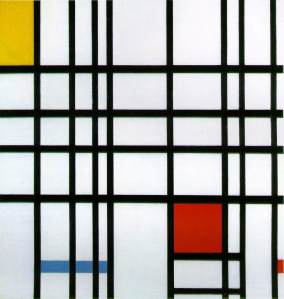 Composición con amarillo, azul y rojo | Piet Mondrian | 1942