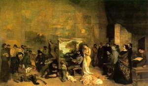 El estudio del pintor, una alegoría real | Gustave Courbet | 1855