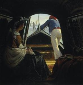 En gondol | Johann Julius Exner | 1859