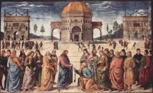 La entrega de llaves a San Pedro | Pietro Perugino | 1482