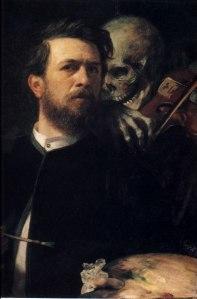Autorretrato con Muerte tocando el violín | Arnold Böcklin | 1872