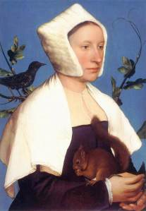 Dama con ardilla y estornino | Hans Holbein el joven | 1528