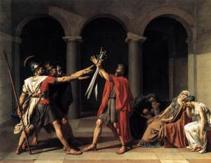 El juramento de los Horacios | Jacques-Louis David | 1784