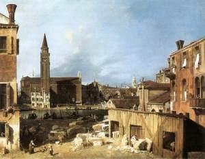 El patio del picapedrero | Canaletto | 1728
