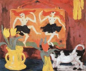 Naturaleza muerta con bailarinas | Emil Nolde | 1914