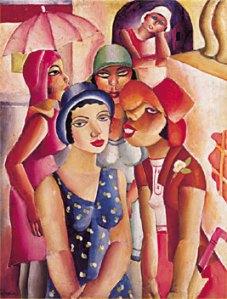 Cinco muchachas de Guaratinguetá | Emiliano di Cavalcanti | 1926