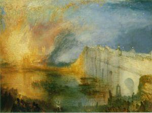El incendio del parlamento | J.M.W. Turner | 1835