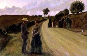 Haciendo el amor en la noche   Fritz Syberg   1891