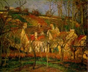 Los tejados rojos | Camille Pissarro | 1877