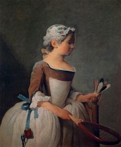 Niña con raqueta y volante | Jean-Baptiste-Siméon Chardin | 1737