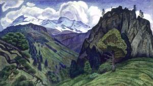 Paisaje con el Iztaccíhuatl | Dr. Atl | 1932