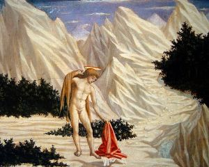 San Juan en el desierto | Doménico Veneziano | 1450
