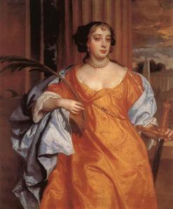 Barbara Villiers, Duquesa de Cleveland como Santa Catalina de Alejandría | Sir Peter Lely | 1666