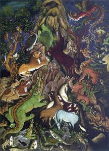 El discurso del cuervo a los animales reunidos | Miskin | 1590