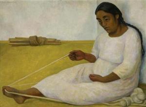 Indígena hilando | Diego Rivera | 1936