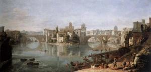 La isla en el Tíber | Gaspar van Wittel | 1685