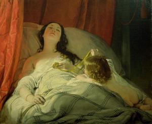 La somnolienta | Friedrich von Amerling | 1850