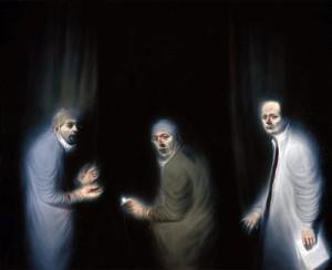 Tres oncólogos | Ken Currie | 2002