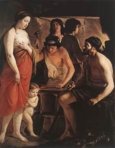 Venus en la forja de Vulcano | Los hermanos Le Nain | 1641