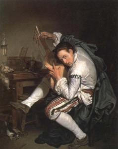 El guitarrista | Jean-Baptiste Greuze | 1755