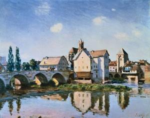 El puente de Moret al sol | Alfred Sisley | 1892