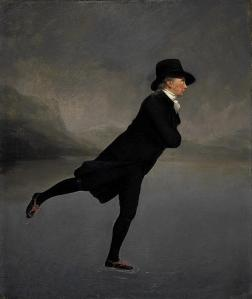 El reverendo Robert Walker patinando en el Lago Duddingston | Sir Henry Raeburn | 1790
