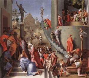 José con Jacob en Egipto | Pontormo | 1518