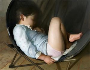 Lilly en un sillón redondo | Vincent Desiderio | 2008