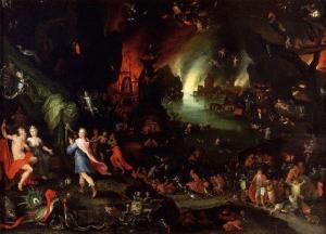 Orfeo en el inframundo | Jan Brueghel el viejo | 1594