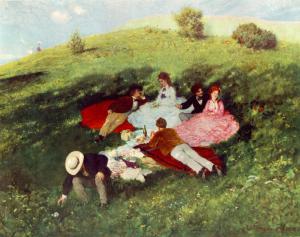 Picnic en mayo | Pál Szinyei Merse | 1873