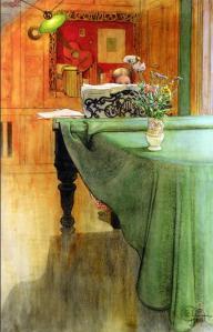 Brita en el piano | Carl Larsson | 1908