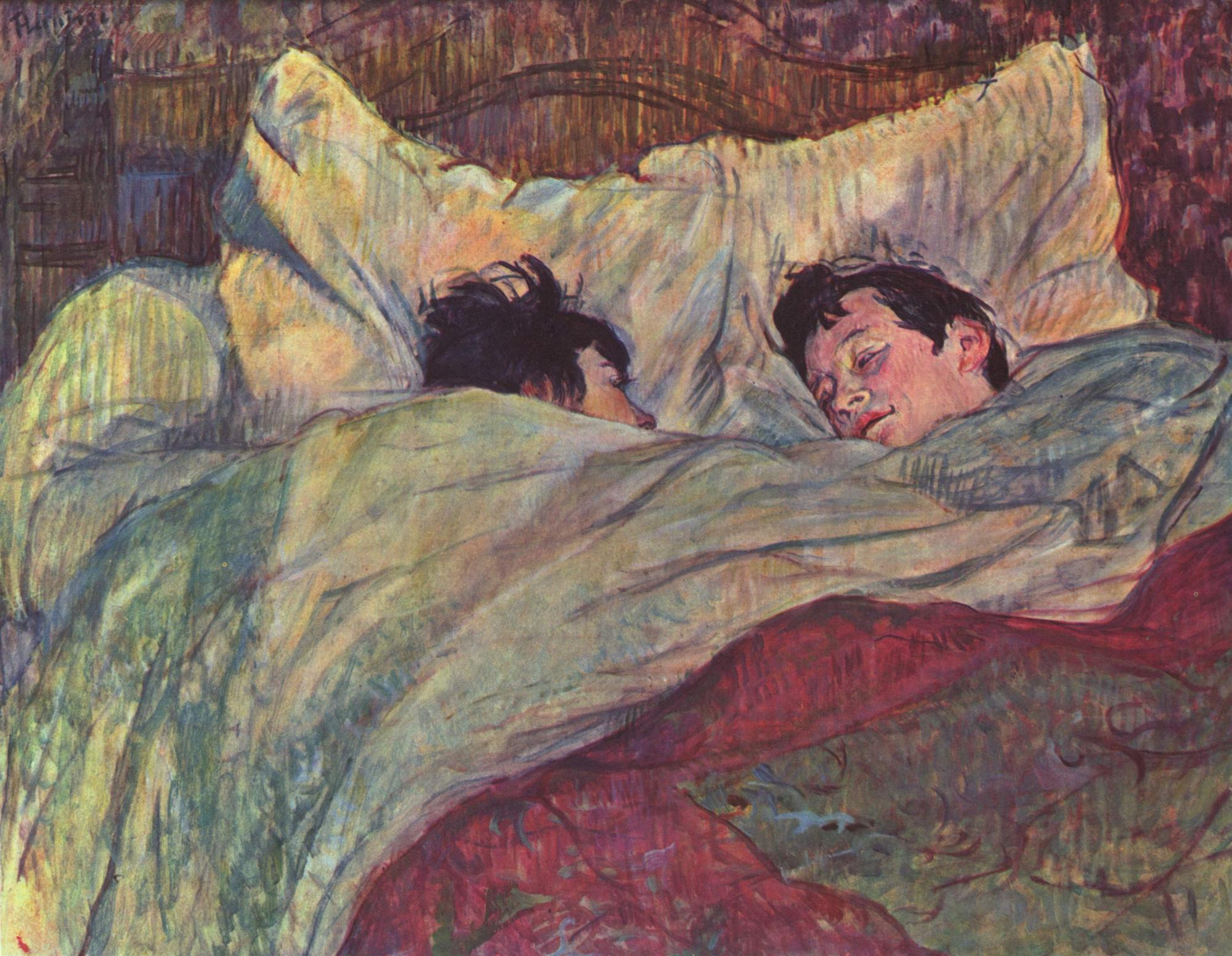 Impresionismo .. La-cama-henri-de-toulouse-lautrec-1893