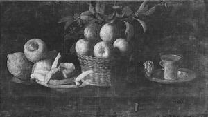 Naturaleza muerta con limones, naranjas y una rosa | Rayos X