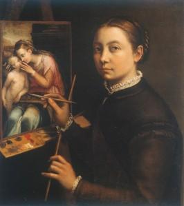 Autorretrato con caballete | Sofonisba Anguissola | 1556