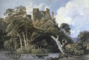 El castillo de Berry Pomeroy, Devon | Thomas Girtin | 1797