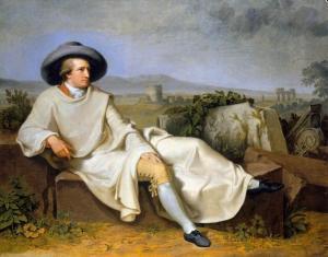 Goethe en la Campiña | Johann Tischbein | 1787