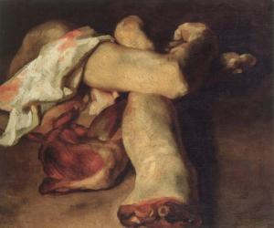 Partes anatómicas | Théodore Géricault | 1818