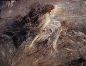 Retrato de la Marquesa Casati con plumas de pavo real | Giovanni Boldini | 1914