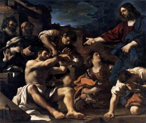 El levantamiento de Lázaro | Guercino | 1619