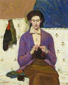 La tejedora de medias | Grace Cossington Smith | 1915