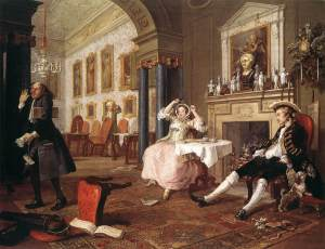 Casamiento à-la-mode 2: Tête à Tête | William Hogarth | 1745