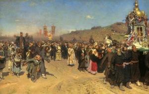 Procesión de pascua en la región de Kursk | Illya Repin | 1883