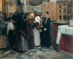 El beso de la reliquia | Joaquín Sorolla | 1893